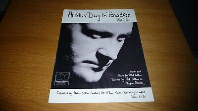 Phil Collins Another Day In Paradise  Original Uk 1989 Sheet Music Genesis  • 8.99£