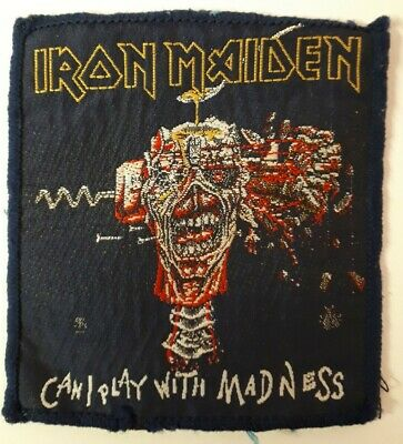 IRON MAIDEN Can I Play With Madness Vintage Embroided Patch Eddie! 1987 • 2.99£