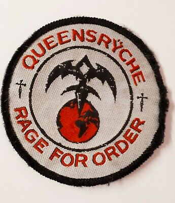 QUEENSRYCHE Rage For Order 1986 Vintage Embroided Sew On Patch  • 3.99£