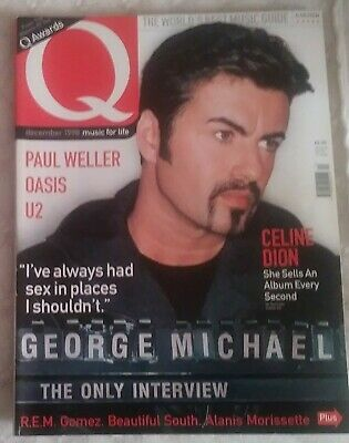 George Michael Q Magazine December 1998 Front Cover And 8 Pages Inside Feature • 3.99£