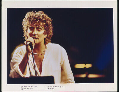 Rod Stewart Iconic Concert Image Vintage Photo Agency Duplicate 5x4 Transparency • 32.75£