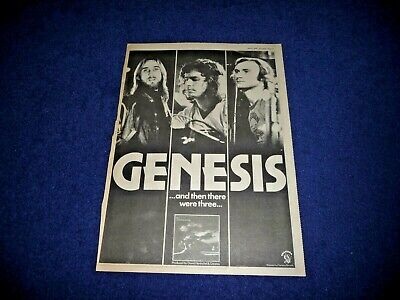 Genesis And Then There Were 3  1978 Full Page Press Advert Poster Size  37/26cm • 9.99£