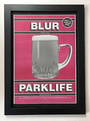 BLUR - Parklife -1994 Original Framed Advert 46x34cm[L26] • 34.99£