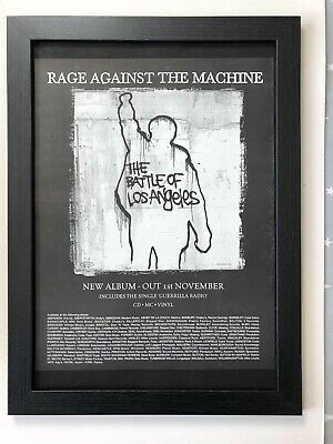 RAGE AGAINST THE MACHINE - Battle -  1999 Original Framed Advert 46x34cm[L28] • 27.99£