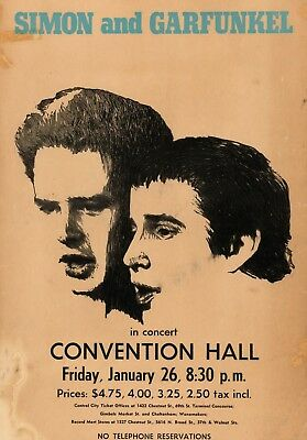 Simon And Garfunkel Convention 16  X 12  Photo Repro Concert Poster • 5.50£