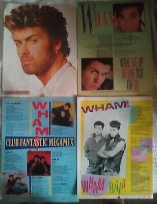 George Michael Wham Posters Lyric Sheets And More Please Read Description • 17.99£