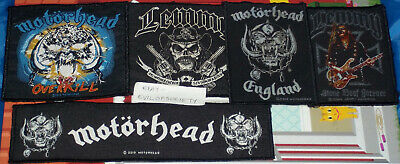 Motorhead, Lemmy, Band Design, Strip Patch, 5 Sew On Patches, Joblot, Used • 10£