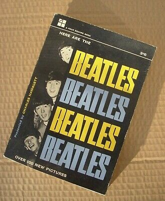 1960's VINTAGE HERE ARE THE BEATLES PAPERBACK BOOK CHARLES HAMBLETT  POP MUSIC • 3.20£