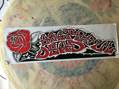 Extremely Rare Grateful Dead   Red Rose  Sticker    • 13.33£
