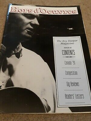 Roy Harper Hors D'oeuvres Magazine, Issue 21, 1991, 24 Pages Very Good Condition • 2£