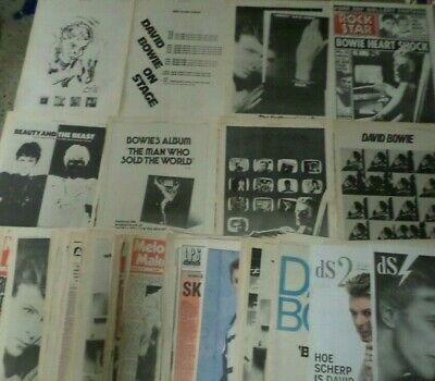 David Bowie Massive Pack Of Cuttings Clippings Berichte Over 500  • 29.99£