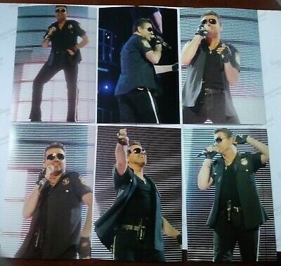 George Michael Photos 25Live Set Of 9 6x4  Photos. Police Outfit 2007 Stadium • 3.99£
