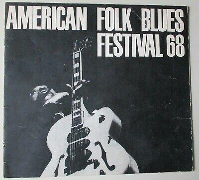 American Folk And Blues Festival.1968.programme. Jimmy Reed. John Lee Hooker • 19.99£