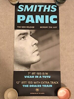Vintage The Smiths Panic Cartel Promo Poster Original Mint Condition Rolled 1986 • 315£