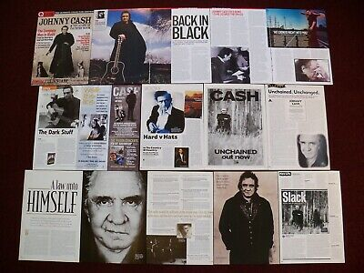Johnny Cash Clippings - Boy Named Sue - I Walk The Line - Unchained San Quentin • 1.75£