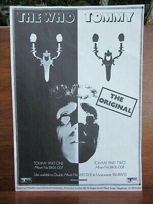 The Who Tommy Track Record Polydor Original Promotional Flyer Excellent 12 X 8  • 14.99£