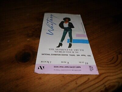 'The Moment Of Truth Tour 1988 ' Whitney Houston Nec  Ticket! • 12.99£