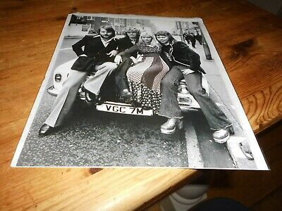 ABBA Promopress Photograph 8 X10  Superb And Rare • 25£