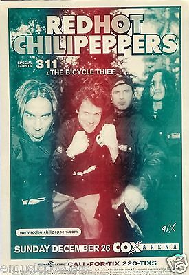 RED HOT CHILI PEPPERS / 311 SAN DIEGO 2004 CONCERT TOUR POSTER - RHCP Group Shot • 10.29£