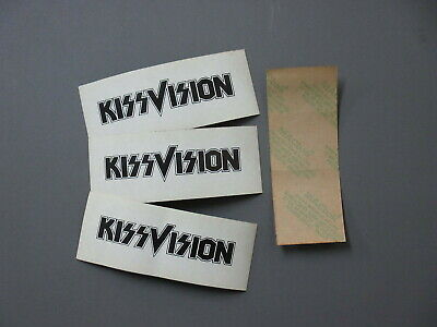 Kiss Stickers These 4 1/2  X 1 1/2  KissVision (3) Stickers Are Original! • 11.04£