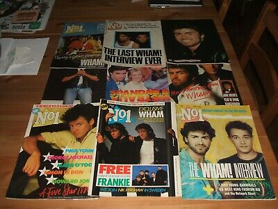 9 X No.1 Magazines 1985-86 Wham, George Michael • 5.50£