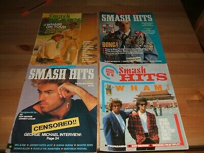 4 X Smash Hits Magazines 1985-87 Wham George Michael • 2.99£