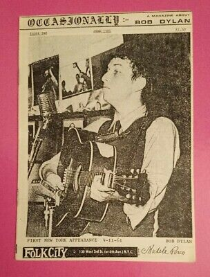 Bob Dylan Fanzine Occasionally Issue Two June 1981 A5 Booklet Rare • 3.95£