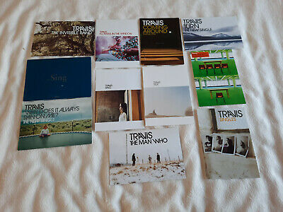 Travis 11 X Promo Postcards SING/WHY DOES IT ALWAYS RAIN ON ME?/THE MAN WHO Etc • 9.99£