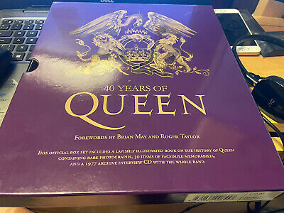 Queen 40 Years Of -purple Limited Book + Inserts • 35£