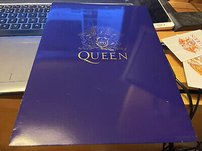 Queen Very Rare Gold N Navy Limited Edition Promo Folder + 2 Stickers Nr Mint • 32.50£