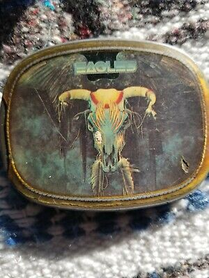 VTG Vintage EAGLES Rock Band - Pacifica BELT BUCKLE - One Of These Nights RARE • 49.63£