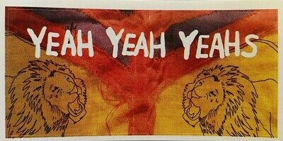 9.5cm By 4.5cm Promotional Sticker  YEAH YEAH YEAHS  Lions And Logo   NEW / MINT • 1.99£