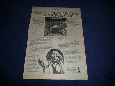 Bob Marley Satisfy My Soul 1978 Full Page Press Advert Poster Size  37/26cm • 9.99£