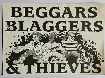 Beggars Blaggers & Thieves Rave 1991 The Rocket Club Flyer • 0.99£