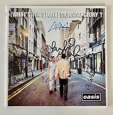 Oasis - (what's The Story) Morning Glory - Fully Signed Vinyl Lp - Damont - 1995 • 106£