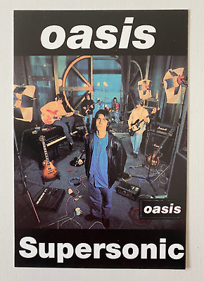 Oasis - Original Promo Postcard - Supersonic - April 1994 - Brit Pop • 2.20£