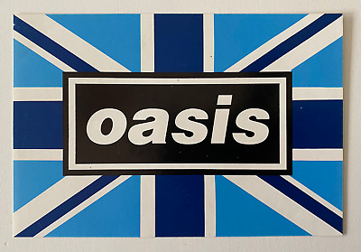 Oasis - Original Blue Flag - Oasis Sticker - 1996 - Brit Pop • 16£