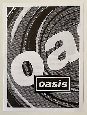 Oasis - Original - T-shirt Flyer - 1995 - Brit Pop • 0.99£