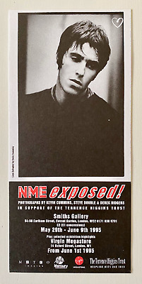 Oasis - Original - Nme Exposed! Exhibition Flyer - 1995 - Brit Pop • 0.99£