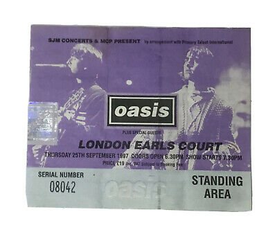 Oasis Ticket Stub • 18£