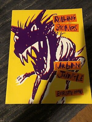 Rolling Stones Urban Jungle Europe 1990 Tour Programme In Very Good Condition  • 9£