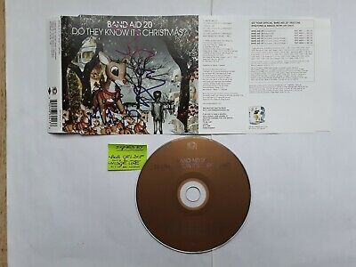 Hand-signed (by Bob Geldof & Midge Ure) Band Aid 20  Do They Know It's Christmas • 20£