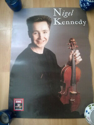 NIGEL KENNEDY Poster - Vintage - Late 1980s • 1.69£
