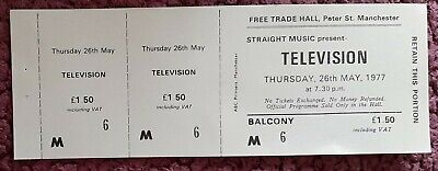 Television Ticket From The Free Trades Hall Manchester. May 1977. • 7£