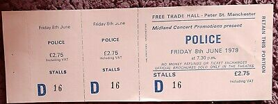 Original Police Ticket From The Free Trades Hall Manchester. June 1979. • 7£