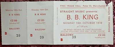 Original B.B.King Ticket From The Free Trades Hall Manchester. October 1978 • 7£