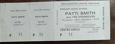 Patti Smith Unused Ticket From The Free Trades Hall Manchester. October 1976 • 7£