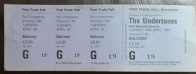 The Undertones Ticket From The Free Trades Hall Manchester. April 1980 • 7£