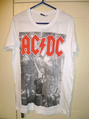 Ac/dc - 2016 New  For Those About To Rock We Salute You  White T-shirt (l)   • 7.99£