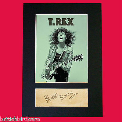 MARC BOLAN T-Rex Signed Reproduction Autograph Mounted Photo Print A4 485 • 6.99£